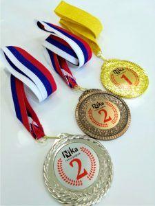 Металлические медали цветные сублимация