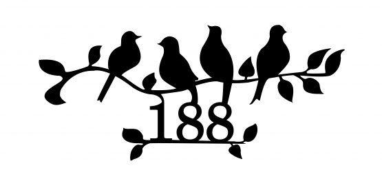 номерки на дверь птицы