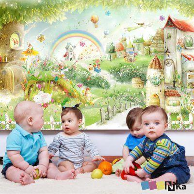 детские фотообои