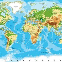 """Фотообои """"Карты мира"""""""
