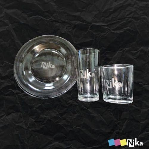 матирование на стеклянной посуде