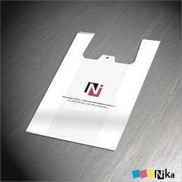 Пакет маечка с лого