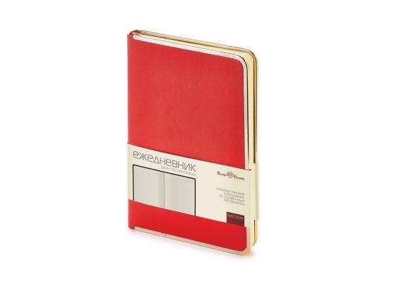 Ежедневник недатированный А5 «Chelsea» красный