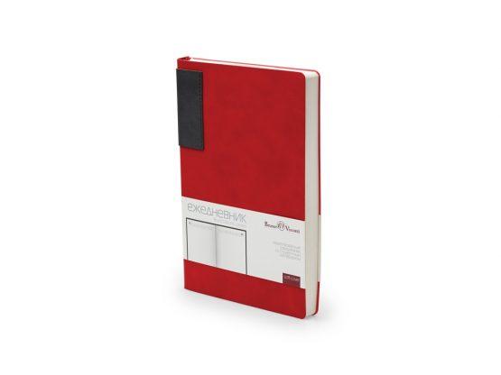 Ежедневник недатированный А5 «London» красный