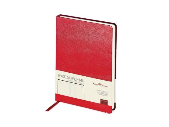 Ежедневник недатированный А5 «Megapolis» красный