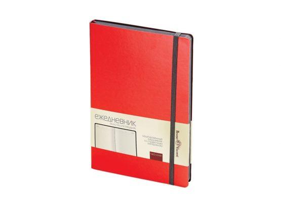 Ежедневник недатированный А5 «Megapolis Soft» красный