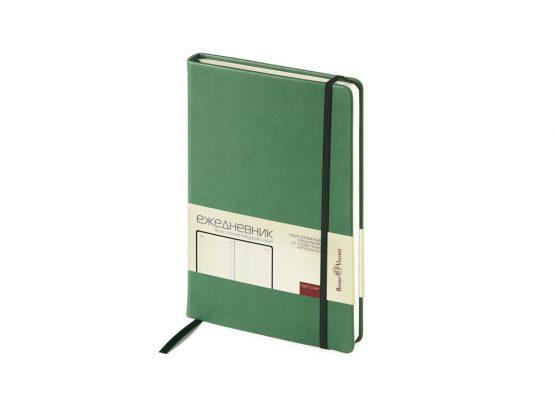 Ежедневник недатированный А5 «Megapolis Velvet» зеленый