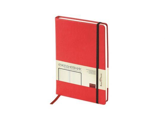 Ежедневник недатированный А5 «Megapolis Velvet» красный