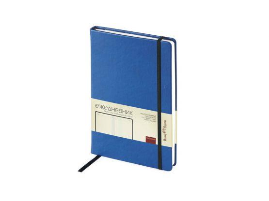 Ежедневник недатированный А5 «Megapolis Velvet» светло-синий