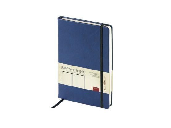 Ежедневник недатированный А5 «Megapolis Velvet» синий