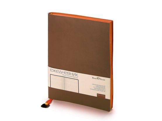 Ежедневник недатированный А5 «Mercury» коричневый