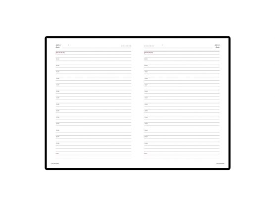 Ежедневник недатированный А5 «Sidney Nebraska» внутренний блок