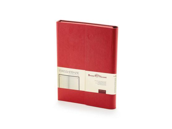 Ежедневник недатированный с магнитным клапаном А5 «Waltz» красный