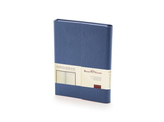 Ежедневник недатированный с магнитным клапаном А5 «Waltz» синий