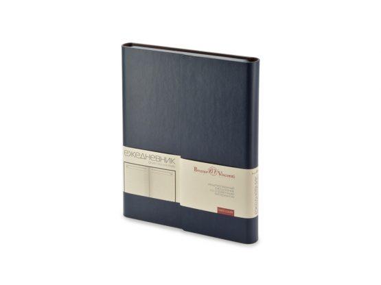 Ежедневник недатированный с магнитным клапаном А5 «Waltz» темно-синий